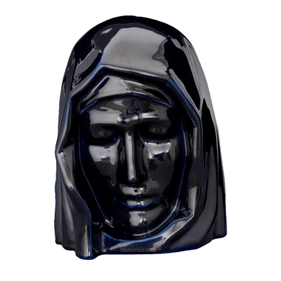 Holy Mother Cobalt Cremation Urn