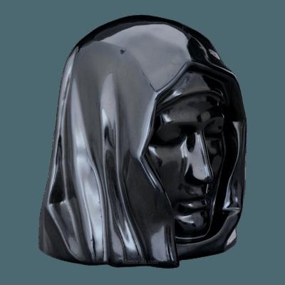Holy Mother Black Cremation Urn