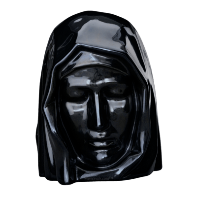 Holy Mother Black Cremation Urns