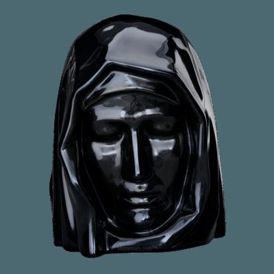 Holy Mother Black Cremation Urns