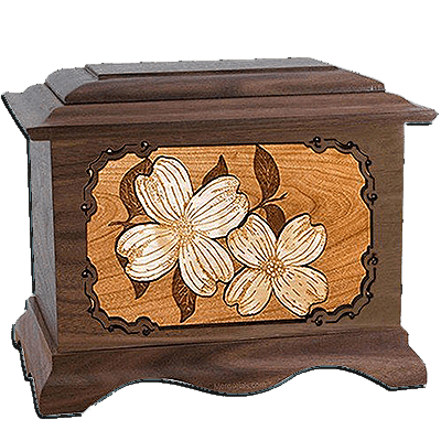 Dogwood Walnut Cremation Urn For Two