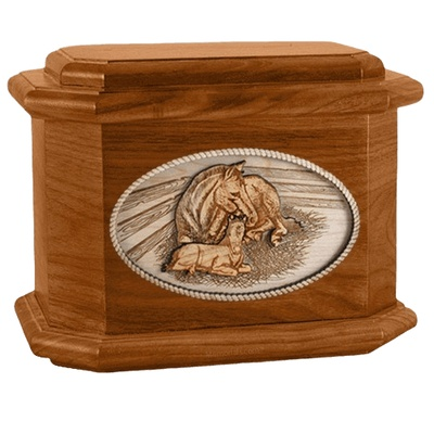 Daddys Love Mahogany Octagon Cremation Urn