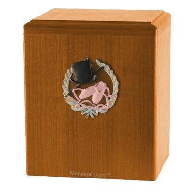 Dance Oak Cremation Urn
