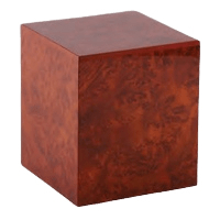 Dark Burl Elm Wood Cremation Urn