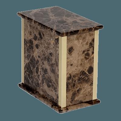 Dark Emperador Marble Cremation Urn