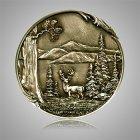 Deer Coin Medallion Appliques