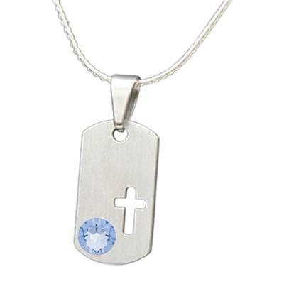 December Cross Cremation Pendant