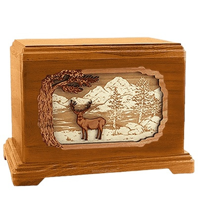 Deer Land Mahogany Hampton Cremation Urn