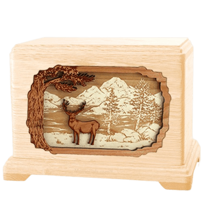 Deer Land Maple Hampton Cremation Urn