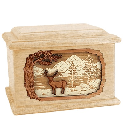 Deer Land Maple Memory Chest Cremation Urn