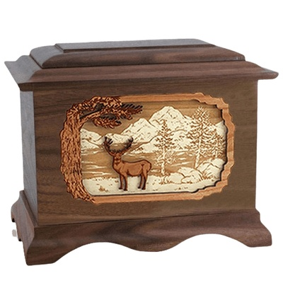 Deer Land Wood Cremation Urns