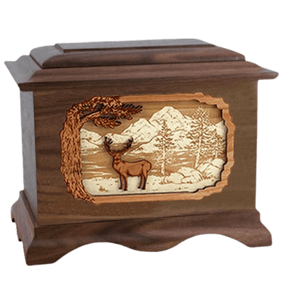 Deer Land Wood Cremation Urns