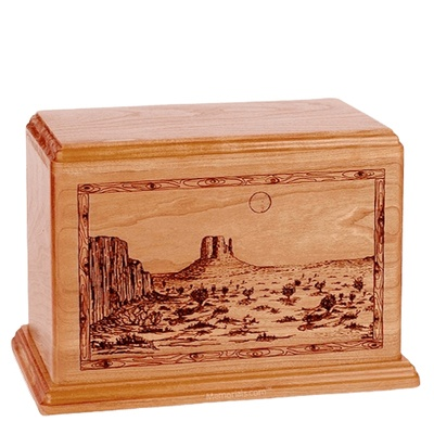 Desert Sunset Companion Cherry Wood Urn