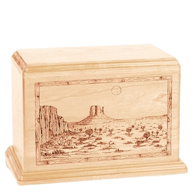 Desert Sunset Companion Maple Wood Urn