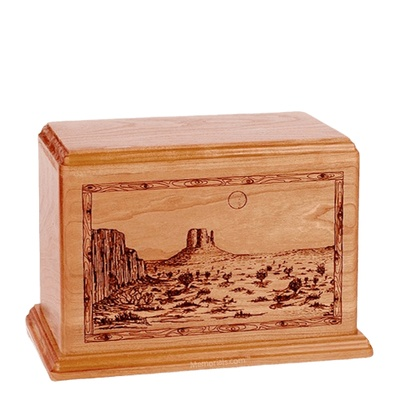 Desert Sunset Individual Cherry Wood Urn