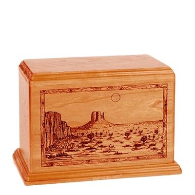 Desert Sunset Individual Mahogany Wood Urn