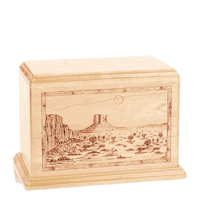 Desert Sunset Individual Maple Wood Urn