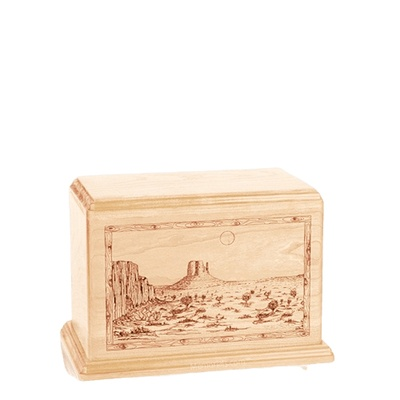 Desert Sunset Small Maple Wood Urn