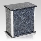 Design Silver Blue Pearl Granite Urn