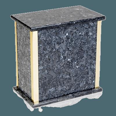 Designer Blue Pearl Granite Cremation Urn