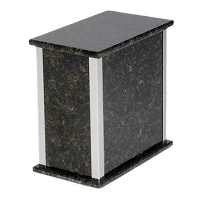 Designer Silver Verde Granite Urn
