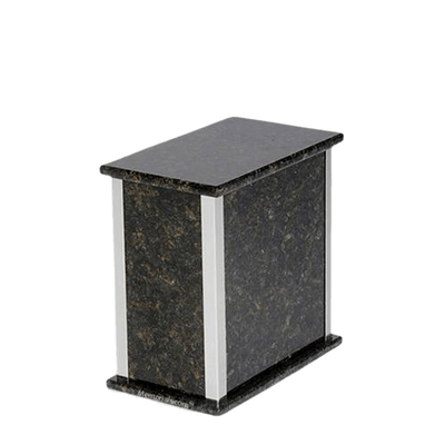 Designer Silver Verde Granite Medium Urn