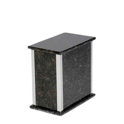 Designer Silver Verde Granite Medium Urn