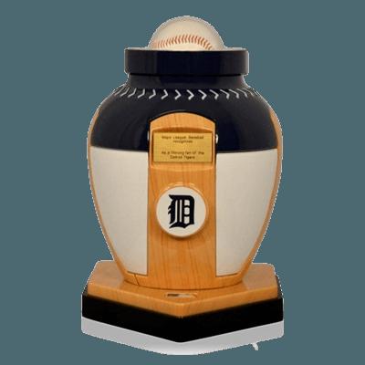 Detroit Tigers Baseball Cremation Urn
