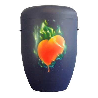 Flame Heart Biodegradable Urn