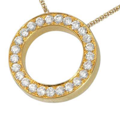 Diamond Spherical Cremation Pendant II