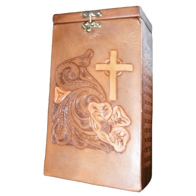 Dignity Leather Cremation Urn
