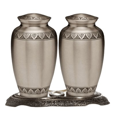 Dignity Pewter Cremation Urns For Two