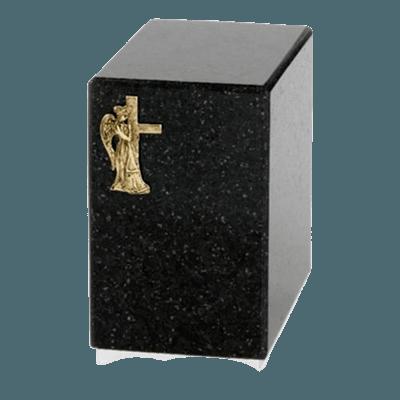 Dignity Silver Cambrian Black Granite Urn