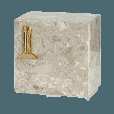 Dignity Silver Perlato Marble Urn