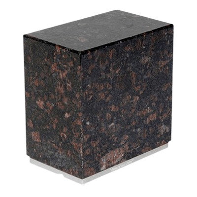 Dignity Silver Tan Brown Granite Urn