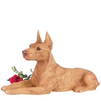 Doberman Pincher Dog Cremation Urn