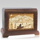 Dogsled Walnut Hampton Cremation Urn