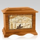 Dogsled Mahogany Cremation Urn