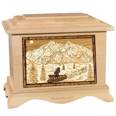 Dogsled Maple Cremation Urn