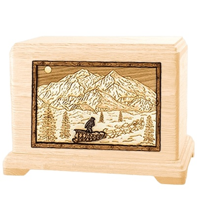 Dogsled Maple Hampton Cremation Urn