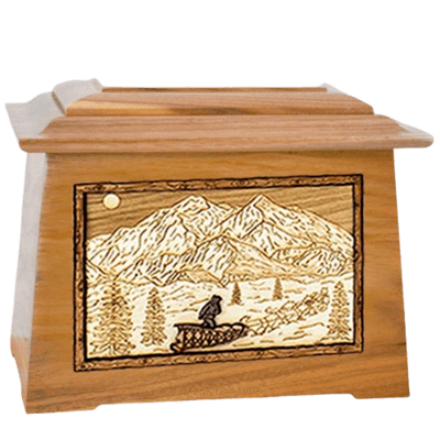 Dogsled Oak Aristocrat Cremation Urn