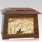 Dogsled Walnut Aristocrat Cremation Urn