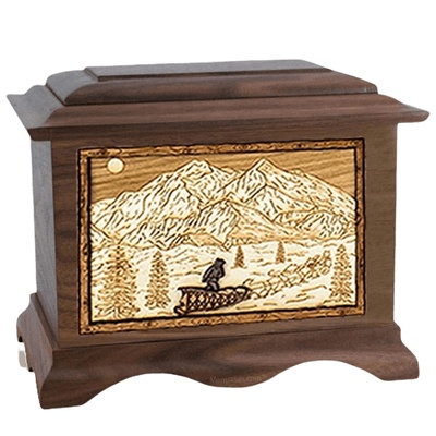 Dogsled Wood Cremation Urns