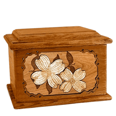 Dogwood Mahogany Memory Chest Cremation Urn