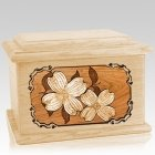 Dogwood Maple Memory Chest Cremation Urn