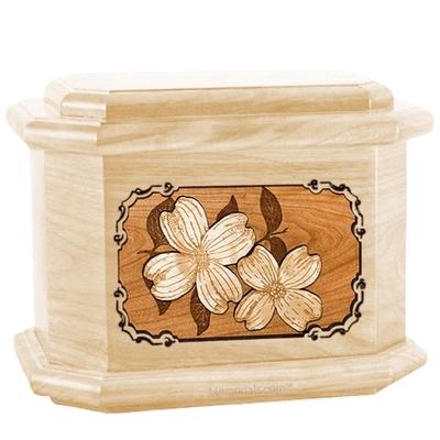 Dogwood Maple Octagon Cremation Urn