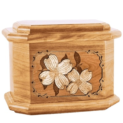 Dogwood Oak Octagon Cremation Urn