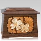 Dogwood Walnut Aristocrat Cremation Urn
