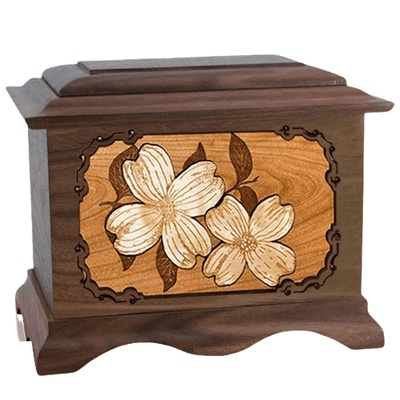 Dogwood Walnut Cremation Urn