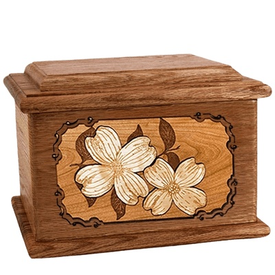 Dogwood Walnut Memory Chest Cremation Urn